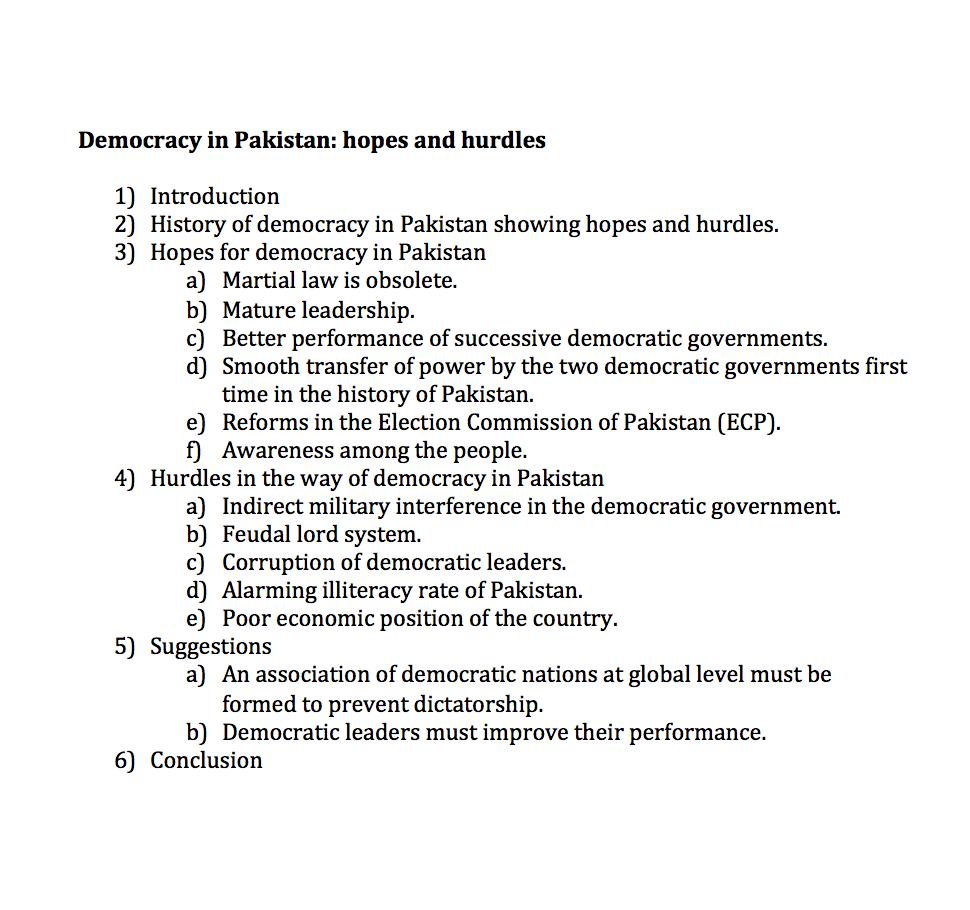 Democracy in Pakistan: hopes and hurdles
