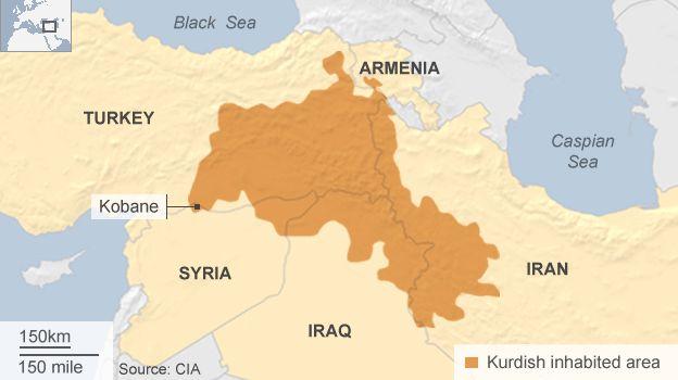 Kurds population map