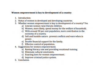 women empowerment is key to development of a country